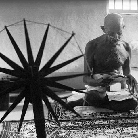 gandhi spinning wheel india