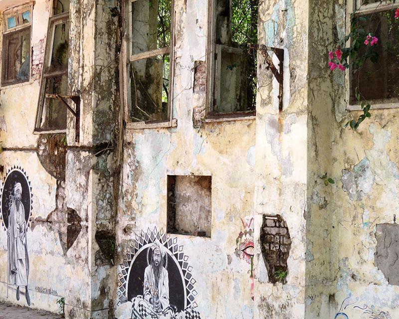 beatles ashram rishikesh art google