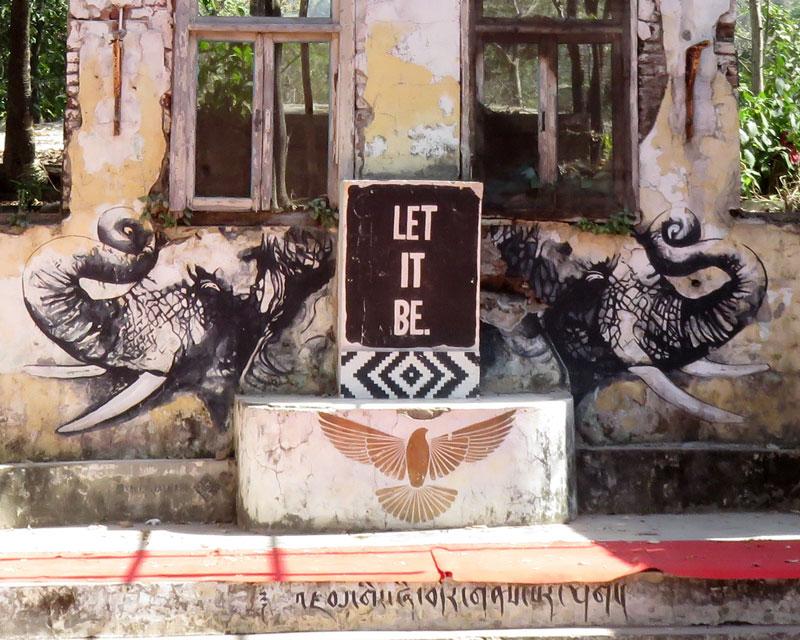 elephant art beatles ashram google