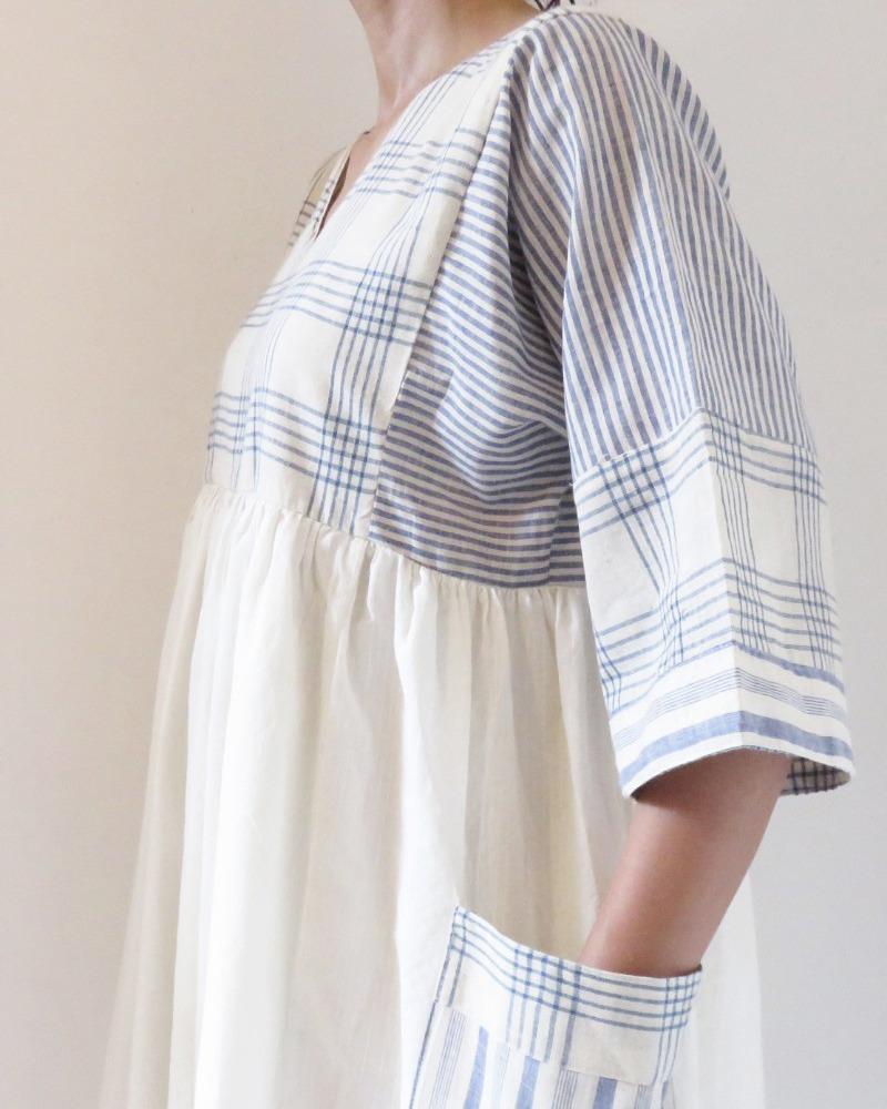 ORGANIC COTTON PANEL DRESS FOLK