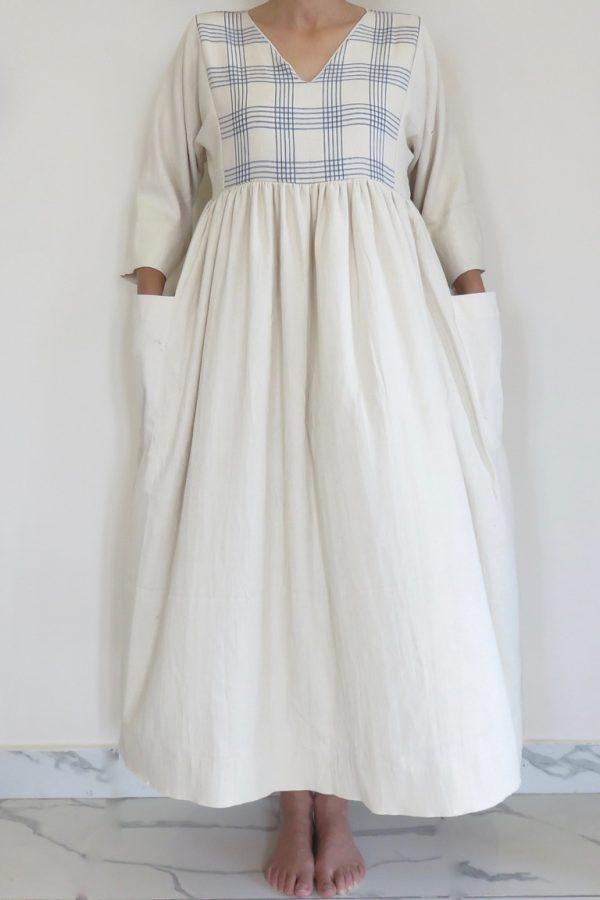 organic cotton panel dress