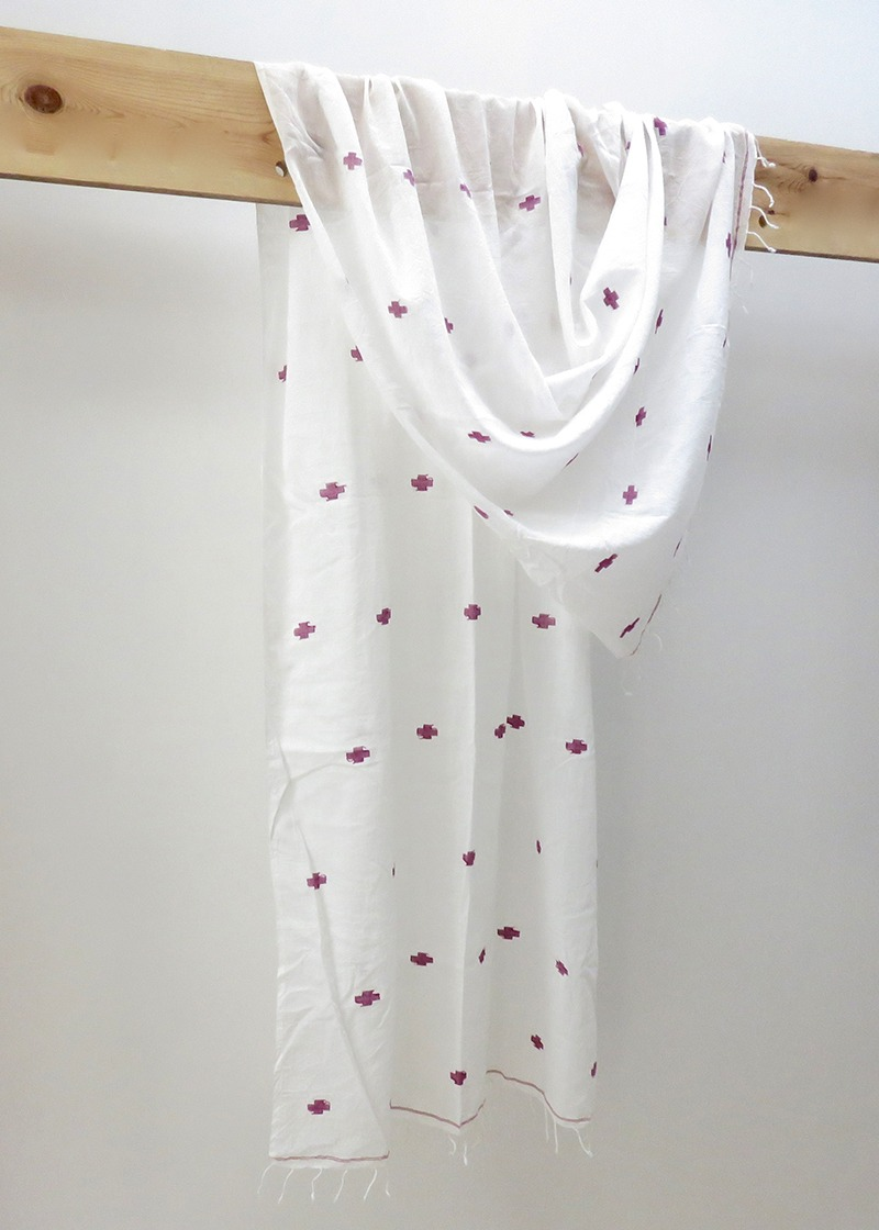 Jamdani Cotton Scarf