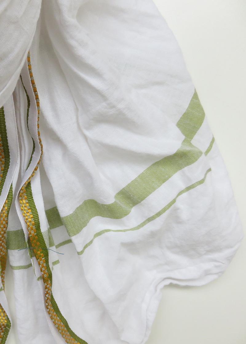 White Indian Cotton Scarf