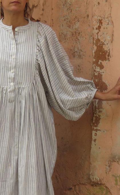 STRIPED COTTON CONSCIOUS DRESS