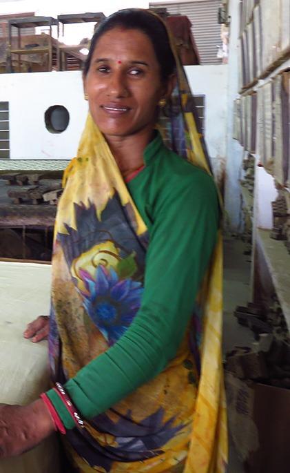 artisan block printing woman