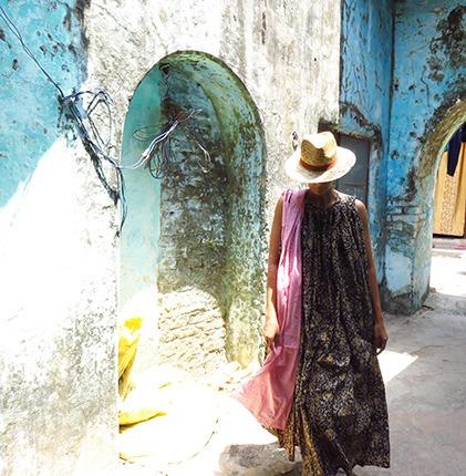 block print indian dress