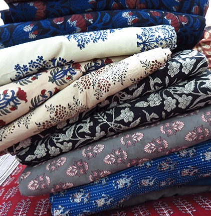 indian block printed cotton