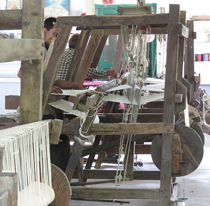 wooden weaving khadi india