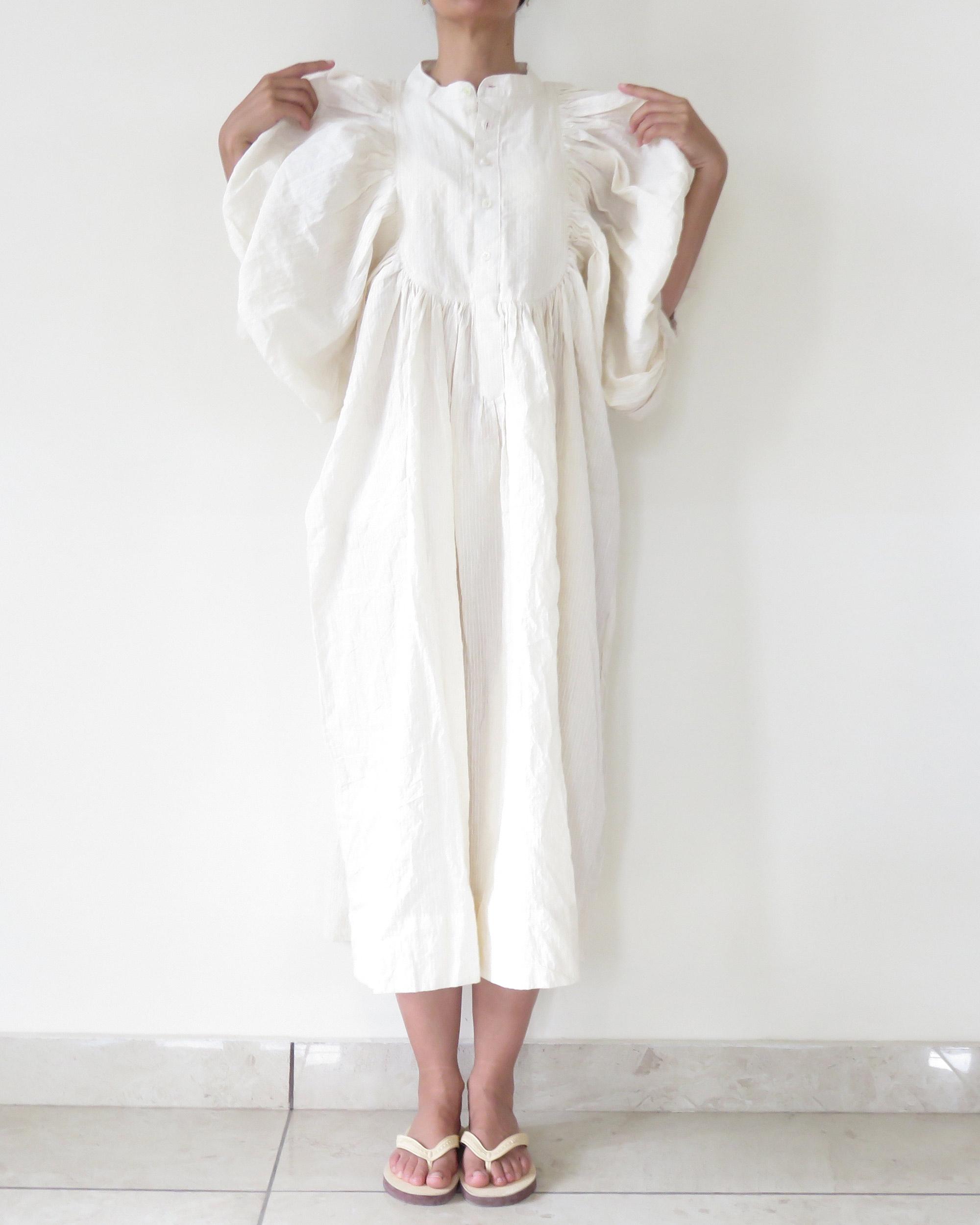 ASHA CREAM COTTON DRESS