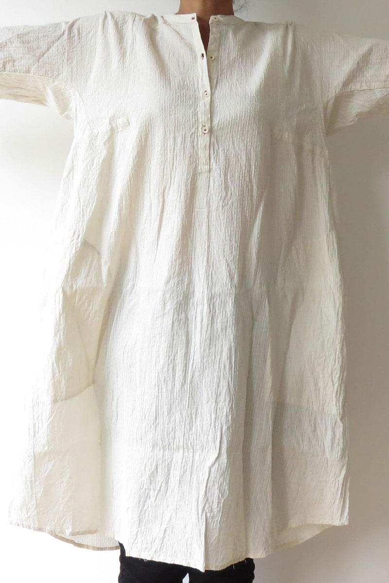 kantha stitch cotton shirt
