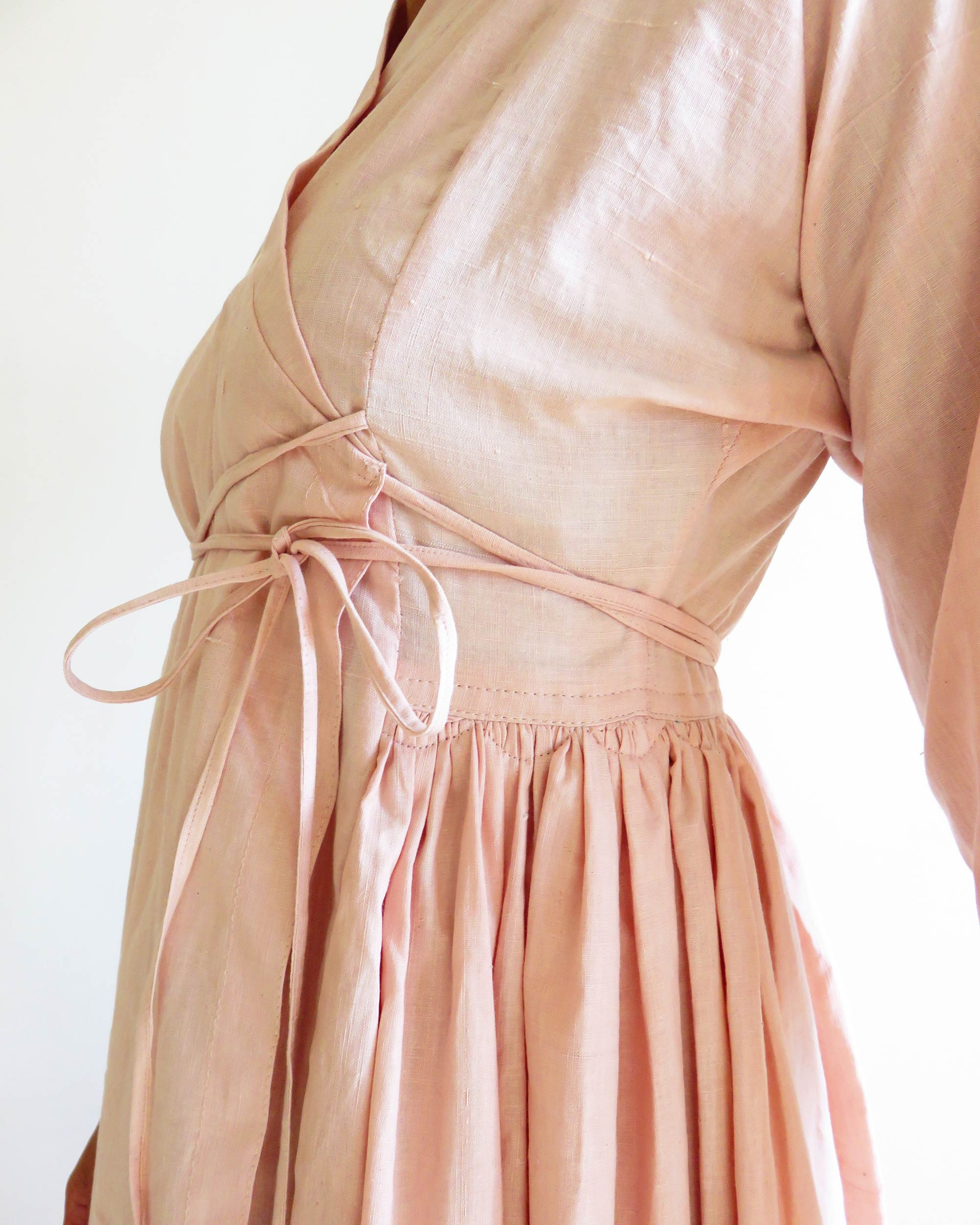 khadi cotton wrap dress akari