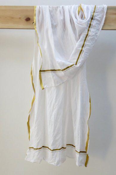 white handloom cotton scarf